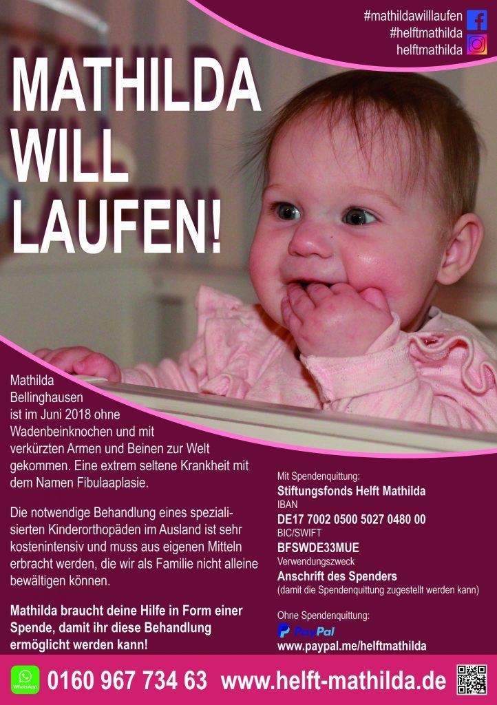 Spendenaktion für Mathilda